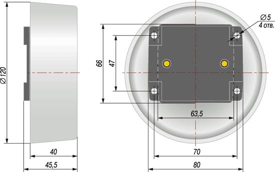 Габаритный чертеж термопреобразователя ДТС3005