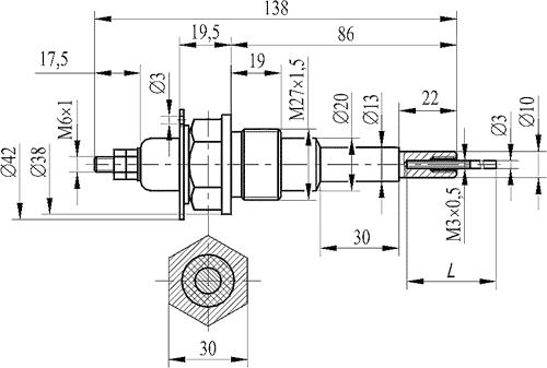 Кондуктометрический датчик уровня ДС.2