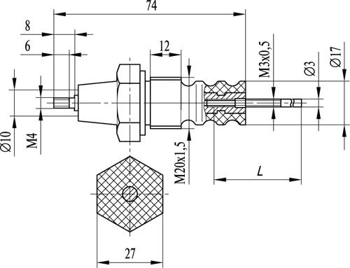 Кондуктометрический датчик уровня ДС.П