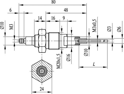 Кондуктометрический датчик уровня ДС.1