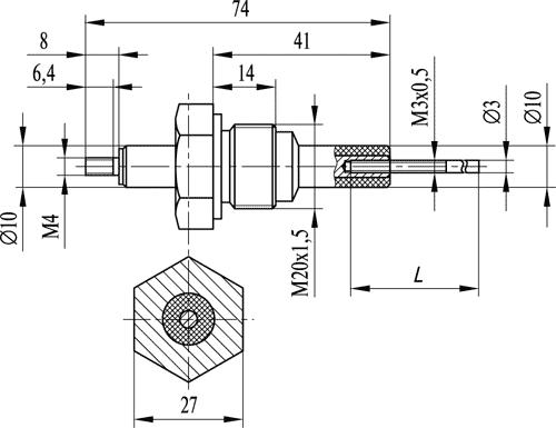 Кондуктометрический датчик уровня ДС.К